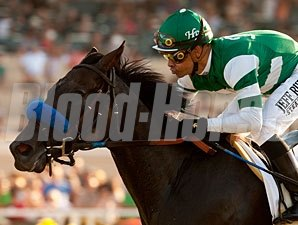 Lady of Shamrock wins the 2012 Del Mar Oaks.