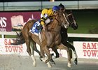 Backtalk won his seasonal debut, the Sportsman's Paradise Stakes at Delta Downs Feb. 26.