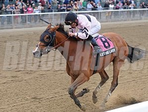 Afleeting Lady wins the 2012 Turnback the Alarm.