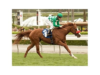 "Unzip Me controls the pace and takes the Las Cienegas under Joe Talamo.<br><a target=""blank"" href=""http://www.bloodhorse.com/horse-racing/photo-store?ref=http%3A%2F%2Fpictopia.com%2Fperl%2Fgal%3Fprovider_id%3D368%26ptp_photo_id%3D8886279%26ref%3Dstory"">Order This Photo</a>"