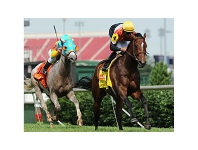 "Banned leads the way in the Jefferson Cup.<br><a target=""blank"" href=""http://www.bloodhorse.com/horse-racing/photo-store?ref=http%3A%2F%2Fpictopia.com%2Fperl%2Fgal%3Fprovider_id%3D368%26ptp_photo_id%3D9569271%26ref%3Dstory"">Order This Photo</a>"