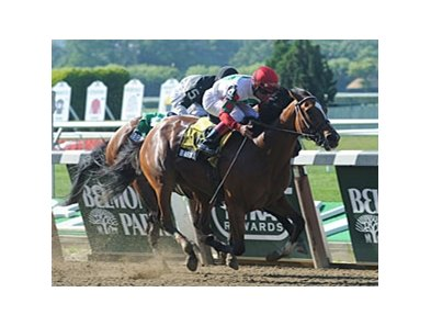 Baby J fights off Bridgehampton to win Victory Ride Stakes.