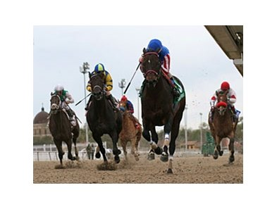 Nates Mineshaft leads the way in the Mineshaft at Fair Grounds.