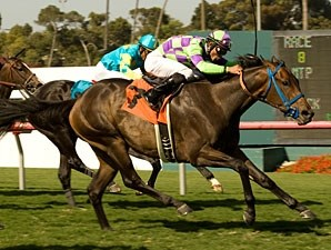 Leroy's Dynameaux wins the 2010 Will Rogers Stakes at Hollywood Park.