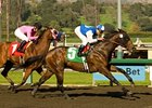 "In Summation and Rafael Bejarano power home in the El Conejo Handicap.<br><a target=""blank"" href=""http://www.bloodhorse.com/horse-racing/photo-store?ref=http%3A%2F%2Fpictopia.com%2Fperl%2Fgal%3Fprovider_id%3D368%26ptp_photo_id%3D7284151%26ref%3Dstory"">Order This Photo</a>"