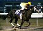 Mr. Pransker won the Jan. 7 Turfway Park Prevue and Feb. 4 WEBN Stakes (shown) by a combined 11 lengths.