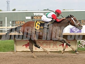 Tujoes wins the 2012 Roanoke Stakes.