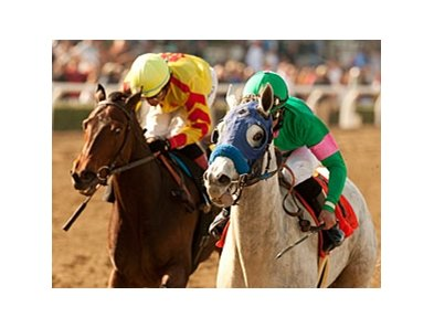 "Zazu (right) and Turbulent Descent meet again in the Santa Anita Oaks.<br><a target=""blank"" href=""http://www.bloodhorse.com/horse-racing/photo-store?ref=http%3A%2F%2Fpictopia.com%2Fperl%2Fgal%3Fprovider_id%3D368%26ptp_photo_id%3D9395130%26ref%3Dstory"">Order This Photo</a>"