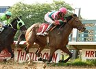 Caleb's Posse won the 2011 Ohio Derby at Thistledown.
