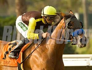 Dearest Trickski wins the Rancho Bernando (gr. III) in gate-to-wire fashion.