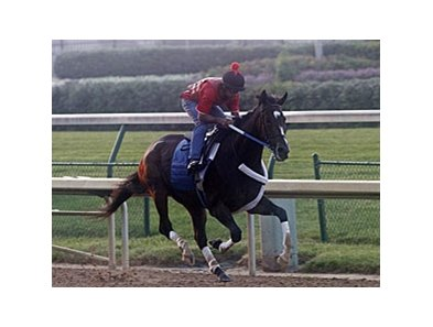 Rachel Alexandra breezed a half-mile in :51 1/5 on June 21.