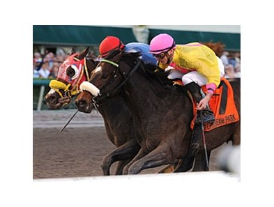 "Ancient Rome (inside) gets his nose in front of For Oby to win the Spectacular Bid. <br><a target=""blank"" href=""http://www.bloodhorse.com/horse-racing/photo-store?ref=http%3A%2F%2Fpictopia.com%2Fperl%2Fgal%3Fprovider_id%3D368%26ptp_photo_id%3D9766186%26ref%3Dstory"">Order This Photo</a>"