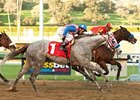 "Indian Firewater (inside) keeps his nose in front of Tweebster in the San Fernando.<br><a target=""blank"" href=""http://www.bloodhorse.com/horse-racing/photo-store?ref=http%3A%2F%2Fpictopia.com%2Fperl%2Fgal%3Fprovider_id%3D368%26ptp_photo_id%3D9372245%26ref%3Dstory"">Order This Photo</a>"
