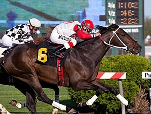 Baltimore Bob wins the 2010 Henry Clark Stakes.