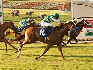 Rising Legend wins the 2013 Oceanside Stakes, 2nd Division.