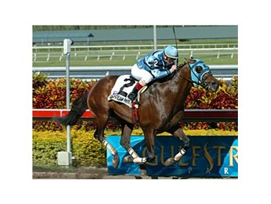 "Gottcha Gold draws off in the Skip Away.<br><a target=""blank"" href=""http://www.bloodhorse.com/horse-racing/photo-store?ref=http%3A%2F%2Fpictopia.com%2Fperl%2Fgal%3Fprovider_id%3D368%26ptp_photo_id%3D3879918%26ref%3Dstory"">Order This Photo</a>"