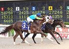 Ocho Ocho Ocho defeating Mr. Z in the 2014 Delta Downs Jackpot.