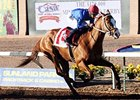 Dry Summer and Carlos Madeira take the Mine That Bird at Sunland Park.