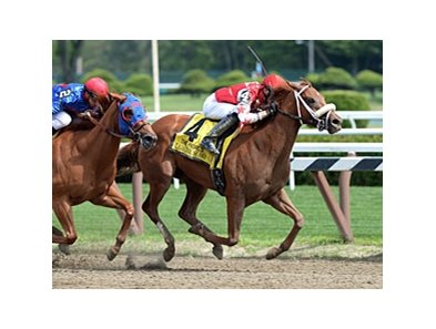 "Lighthouse Bay rolls by Wildcat Lily to win the Prioress Stakes.<br><a target=""blank"" href=""http://photos.bloodhorse.com/AtTheRaces-1/at-the-races-2013/27257665_QgCqdh#!i=2660346753&k=JjkZhNK"">Order This Photo</a>"