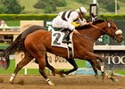 Amazombie wins the 2011 Potrero Grande Stakes.