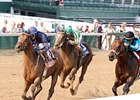 Noble's Promise won the Aristides Stakes at Churchill Downs June 4.