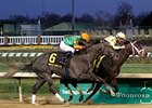 Frac Daddy (left) finished second in the Nov. 24 Kentucky Jockey Club behind Uncaptured.