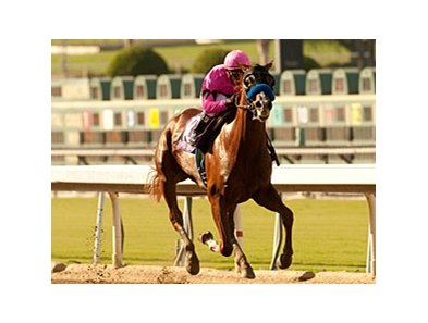 Power Broker rolls home to win the FrontRunner Stakes at Santa Anita.