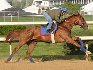 Adriano put in his second work over the Churchill Downs surface on April 20.