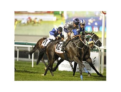 Viscount Nelson rallies to win the Al Fahidi Fort at Meydan.