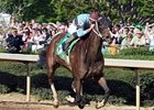 Tiz Miz Sue rallies to win the Azeri Stakes at Oaklawn.