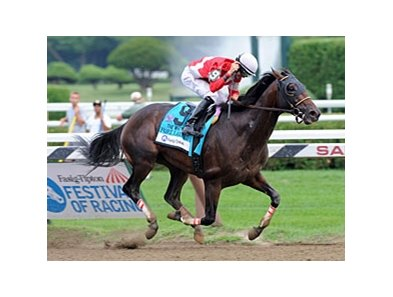 Fort Larned winning the 2012 Whitney Invitational Handicap.