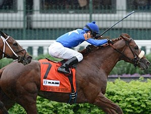 Berlino Di Tiger wins the 2013 Twin Spires Turf Sprint.