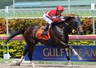 Fort Larned flies home in the Skip Away at Gulfstream.
