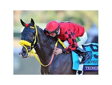 "Willie Martinez and Trinniberg<br><a target=""blank"" href=""http://photos.bloodhorse.com/BreedersCup/2012-Breeders-Cup/Sprint/26128714_drZjpJ#!i=2194493812&k=jWhWtk5"">Order This Photo</a>"