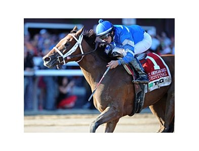 "TVG Coaching Club American Oaks winner Questing is among those expected to run in the Alabama.<br><a target=""blank"" href=""http://photos.bloodhorse.com/AtTheRaces-1/at-the-races-2012/22274956_jFd5jM#!i=1979124565&k=CmvqGvn"">Order This Photo</a>"