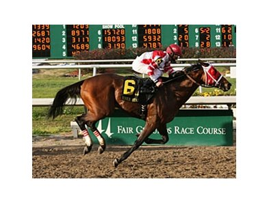 Friesan Fire takes the Risen Star at Fair Grounds.