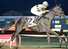 Uptown Bertie winning the Iowa Oaks.