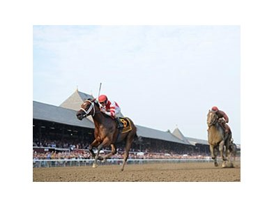 Havre de Grace winning the Woodward Stakes. 