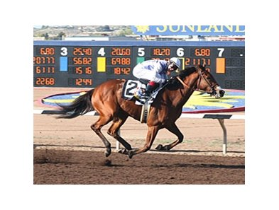 Harissa pulled away to win the Sunland Park Oaks in New Mexico.