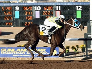 Glory Be Mine wins the 2010 La Senora Stakes.