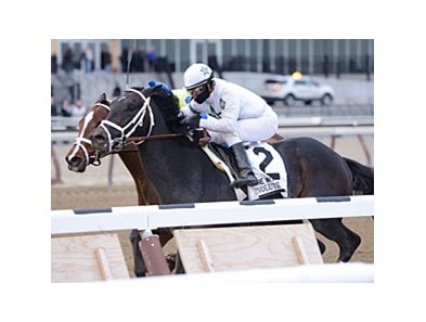"Revolutionary gets through on the inside to win the Withers Stakes.<br><a target=""blank"" href=""http://photos.bloodhorse.com/AtTheRaces-1/at-the-races-2013/27257665_QgCqdh#!i=2347671578&k=SfRLtCp"">Order This Photo</a>"