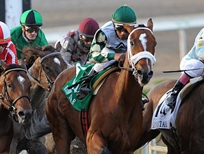Mucho Macho Man wins the 2011 Risen Star.