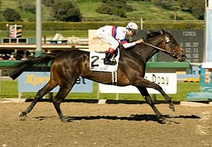 Double Trouble draws off in the Santa Maria.
