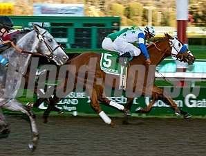 Hudson Landing wins the 2012 All American Stakes.