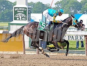 J Be K rolls to victory in the Woody Stephens.