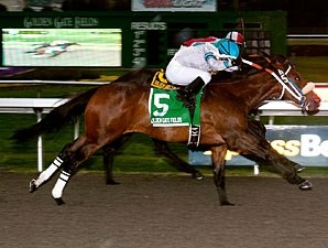 Lady of Fifty wins the 2011 Golden Gate Debutante.