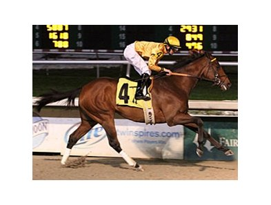 Departing won three in a row before finishing 3rd in the Louisiana Derby.