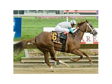 Life At Ten delivers a dominating performance in the Delaware Handicap.