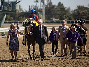 Dank and her connections after winning the 2013 Breeders' Cup Filly and Mare Turf.
