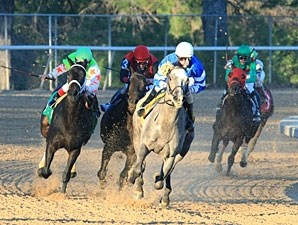 Now I Know wins the 2012 Dixie Belle Stakes.